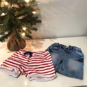 (2) Pair of Toddler Shorts